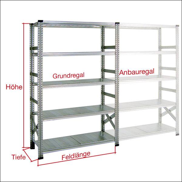 fachbodenregale super 1 h he mm lagertechnik qualit t. Black Bedroom Furniture Sets. Home Design Ideas